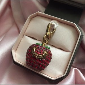 Juicy Couture Ruby Pave Apple Bracelet Charm